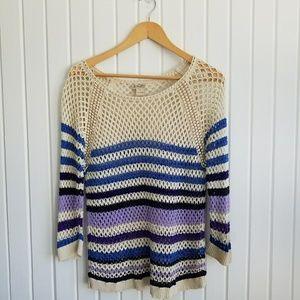 Lucky Brand Crochet Sweater